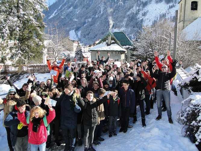 Voyage des 5èmes en Haute-Savoie ski3